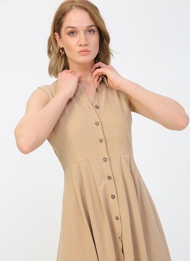 Fabrika Fabrika Koyu Bej Elbise Bej